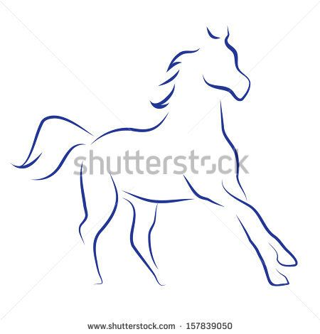 Vektorskizze mit Pferd – Vektor auf Lager
