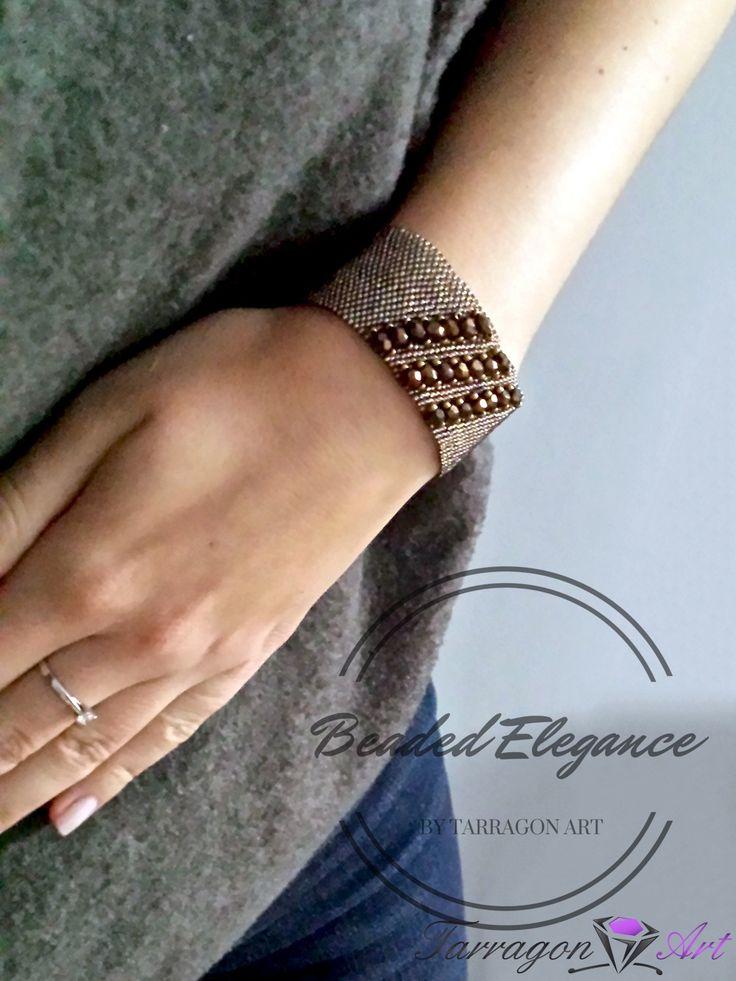 Bransoletka Beaded Elegance - Rainbow Black Diamond by Tarragon Art <3 #TarragonArtPL