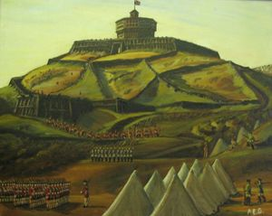 Image of oil painting depicting the Second Citadel