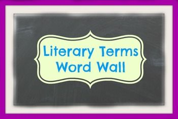 Literary terms included in this document:- Protagonist- Antagonist- Plot- Direct Characterization- Indirect Characterization- Verbal Irony- Dramatic Irony- Situational Irony- Internal Conflict- External Conflict- Theme- Tone- Mood- Point of View- Symbol