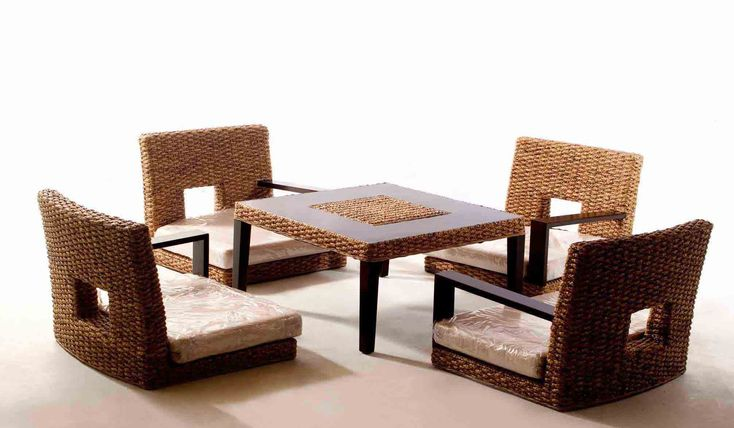 Water hyacinth Japanese Dining Room Furniture sets