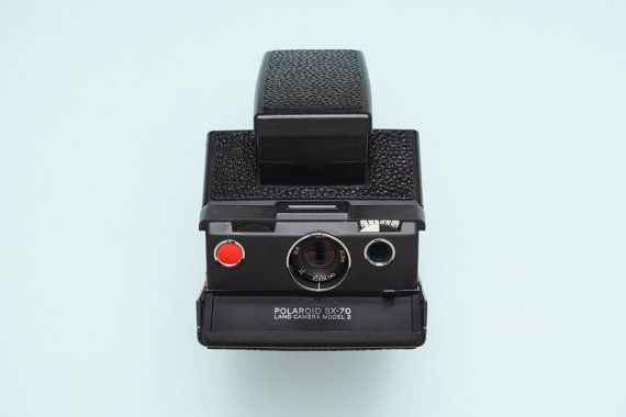 Polaroid SX-70 SLR Instant Film Camera BLACK  Tested  by ohsocult