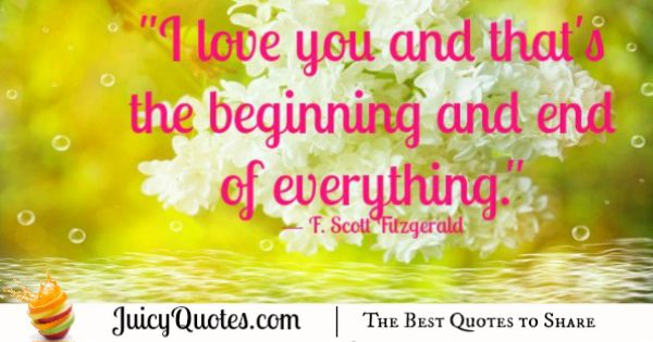 Cute Love Quote - F Scott Fitzgerald 2
