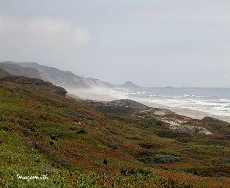 Surf Beach near Lompoc, California, looking toward Point ...