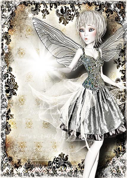 Art work by Stephanie...Doll from 'Enchanted' kit @ www.mischiefcircus.com