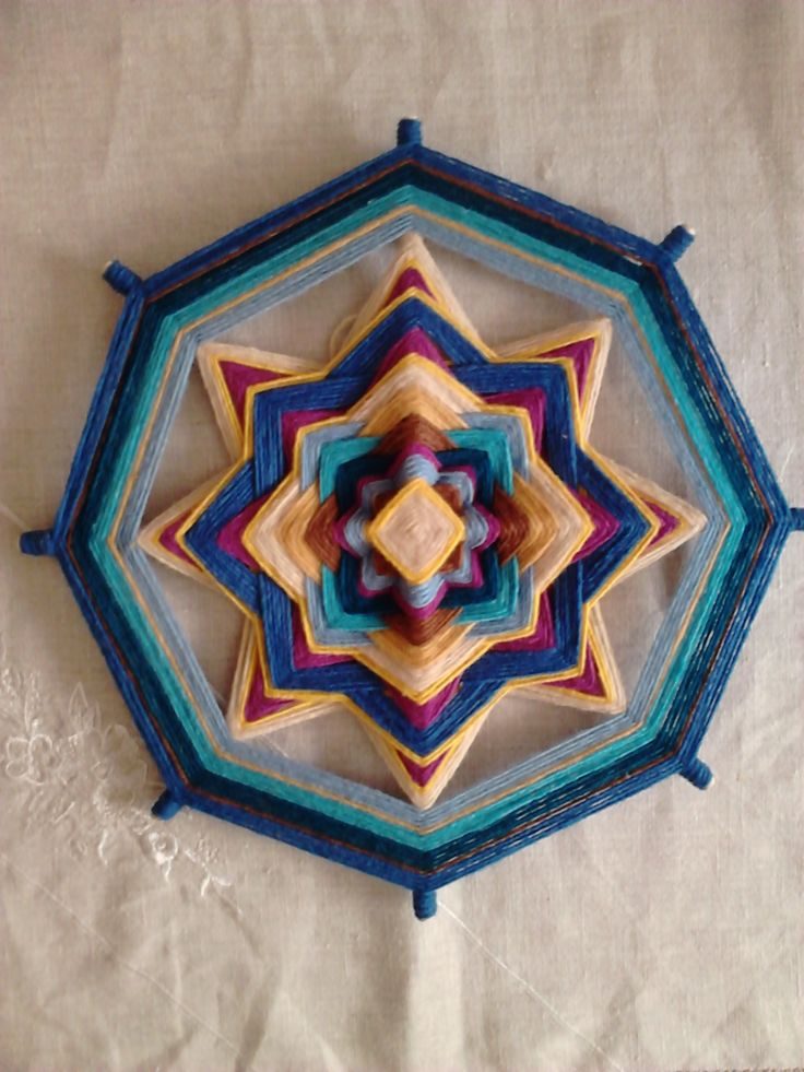 mandala tejido con lana maragata 30cmt