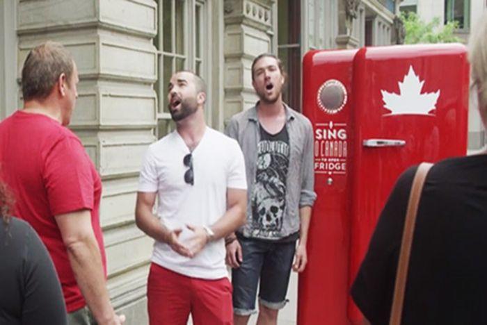 Molson Canadian | Patriotic refrigerator