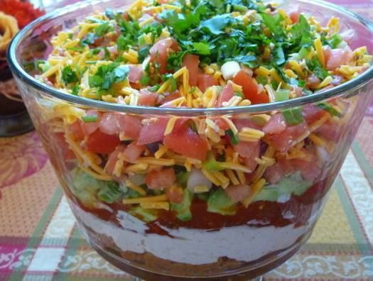 5-Layer Mexican Dip or Nachos Supreme Recipe :http://recipes-all.com/5-layer-mexican-dip-nachos-supreme-recipe/