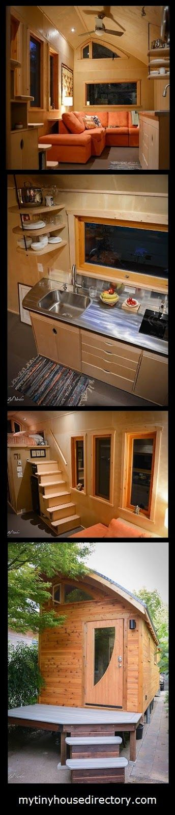 This unique Tiny Home has a   24' x 8' main floor and a 8' x 8' sleeping loft.   A large living room and stairs with storage.      Check I...