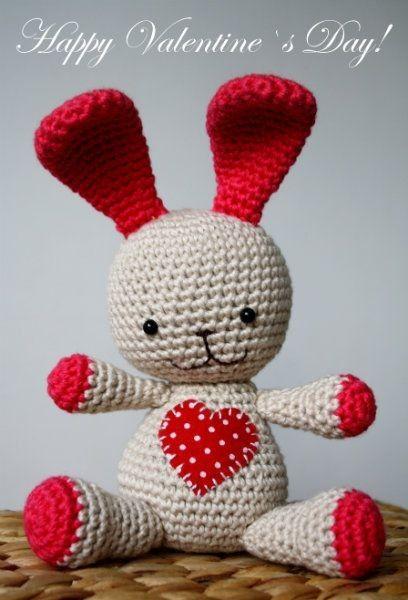 Heart Bunny Amigurumi - FREE Crochet Pat……_来自燒魚仙的图片分享-堆糖网