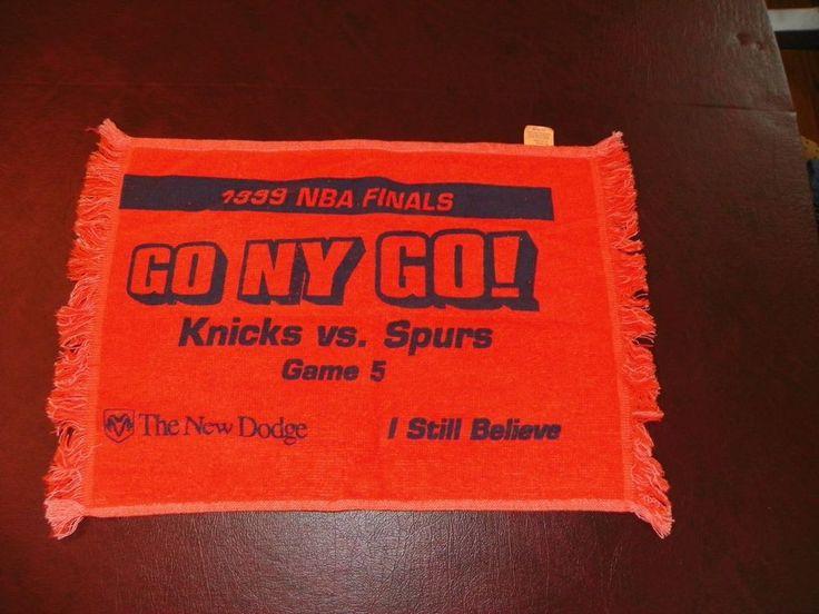 1999 SGA New York Knicks NBA FINALS GAME 5 Spurs Sports Rally Towel by Dodge