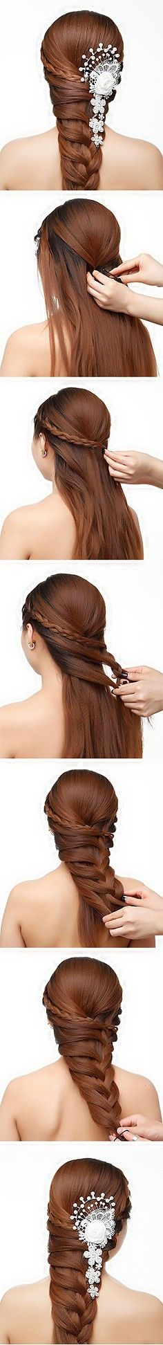 Duitang site - so no words, photos only. I think I could use Gramma's butterfly-combs in this style for a pretty headache-free braid! LOVE it!