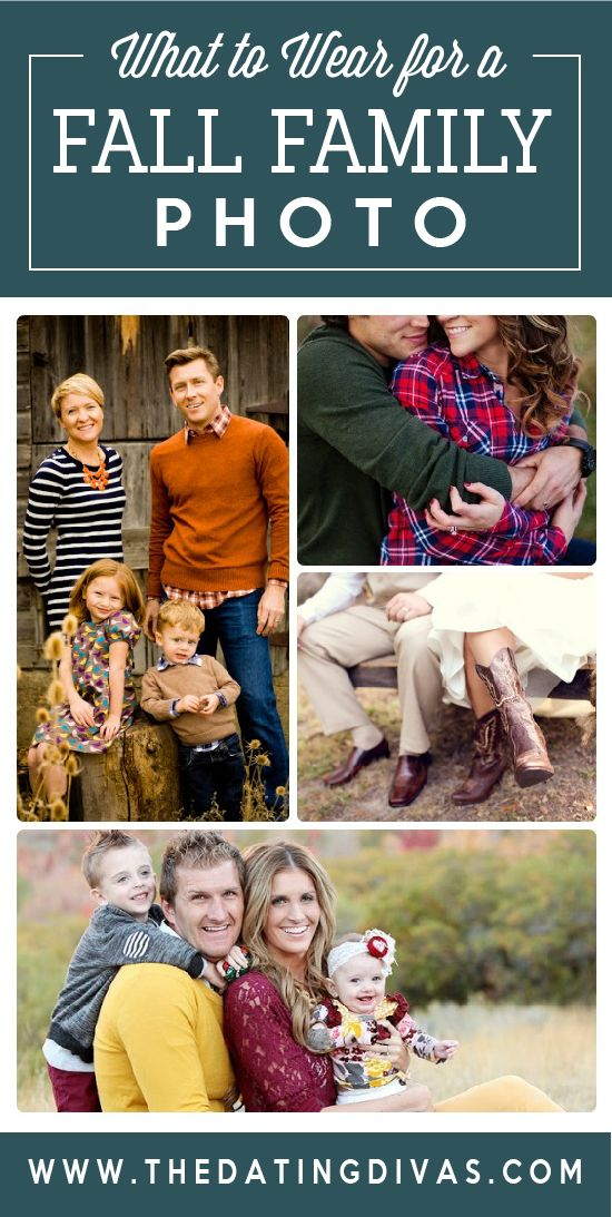 50 Family Fall Photo Ideas! What to wear for a fall family photo shoot.