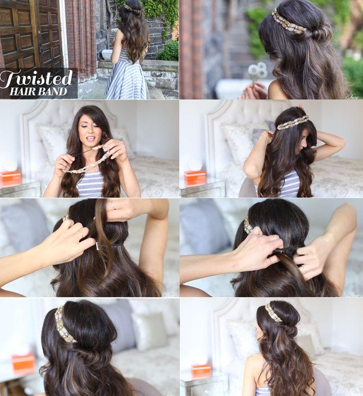 tutoriel coiffure avec un headband  Page youtube: luxyhair
