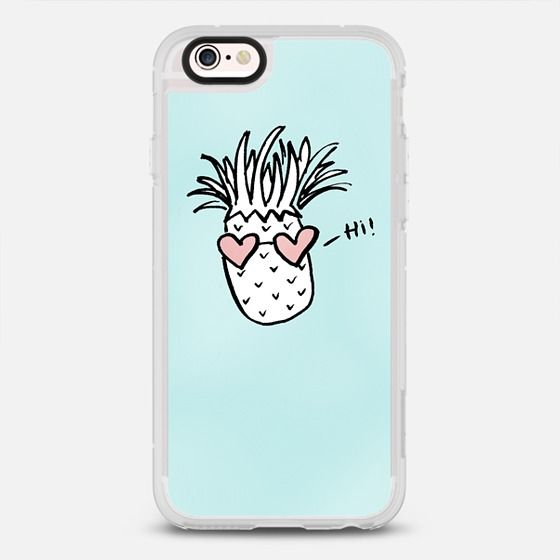 Pineapple Hearts - New Standard iPhone 6/6S #Protective Case in Clear and Clear by @heylovedesigns #phonecase | @casetify