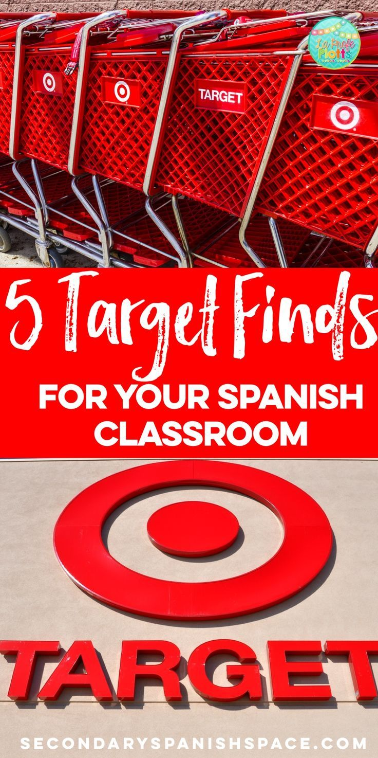 Five Target finds for your Spanish classroom. Written by a Target addict and Spanish teacher.