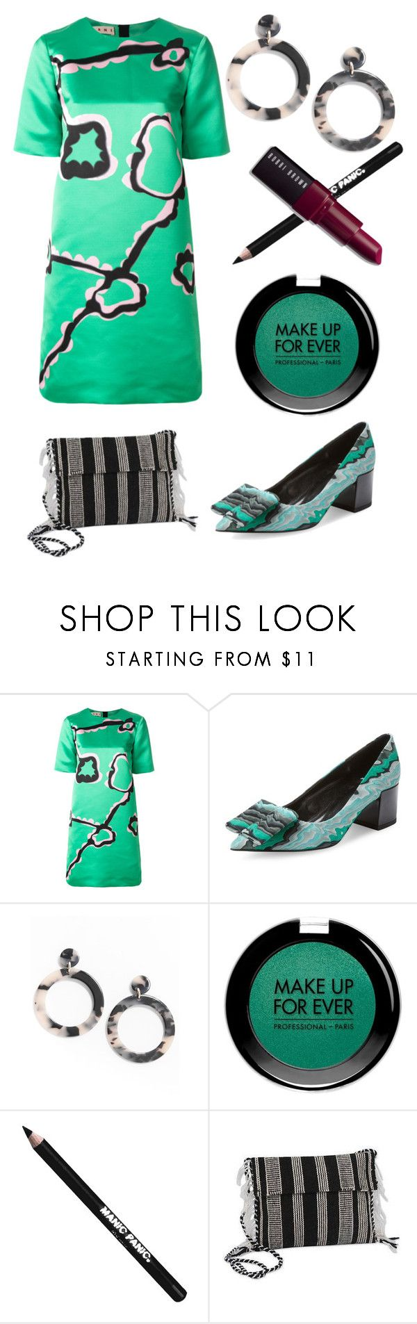"""#PolyPresents: Statement Shoes"" by rossvanderh ❤ liked on Polyvore featuring Marni, Pierre Hardy, MAKE UP FOR EVER, Manic Panic NYC, NOVICA, Bobbi Brown Cosmetics, contestentry and polyPresents"
