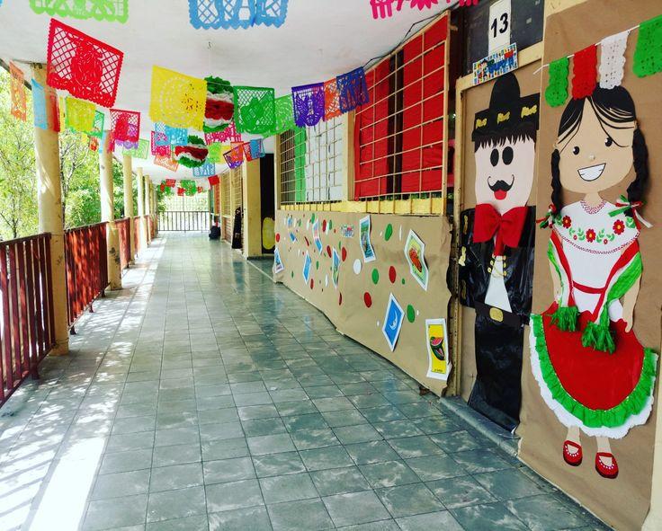 Decoraci n septiembre proyectos decoraci n de unas for Puertas decoradas para el 16 de septiembre