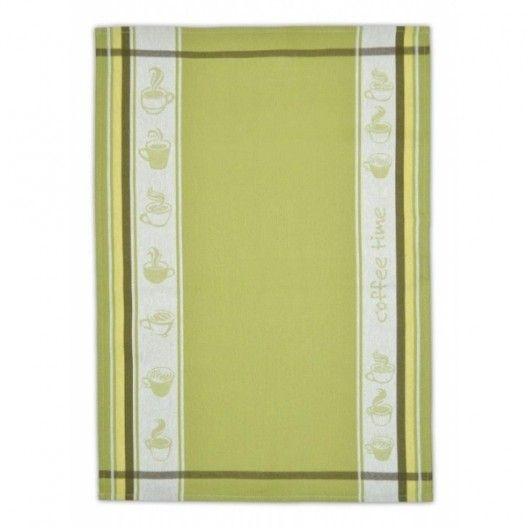 Kvalitna bavlnena kuchynska utierka zelenej farby