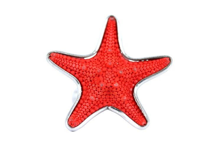 """""""Bague étoile de mer Rubis""""-Bague originale et fantaisie"""