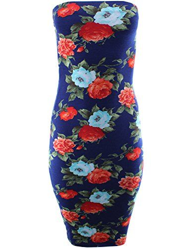 New Trending Formal Dresses: Floral Print Bodycon Strapless Tube Midi Dress Navy L Size. Floral Print Bodycon Strapless Tube Midi Dress Navy L Size  Special Offer: $19.99  222 Reviews ★ Ladies' Code is the place you go for stylish, trendy, unique, wide range of one-of-a-kind items for affordable price. Our mission is to show you that you can look gorgeous and...