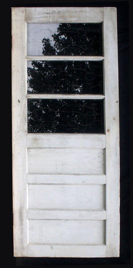 32 X75 Vintage Antique Wood Wooden Side Back Entry Exterior Door Window Glass Exterior Doors With Glass Exterior Door Window How To Antique Wood