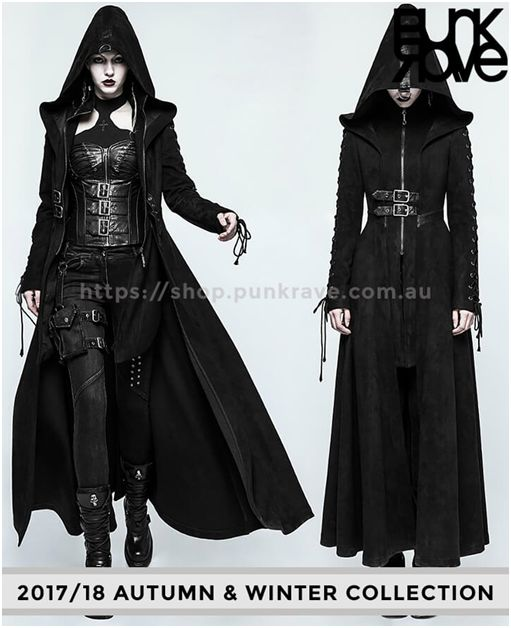 Life is too short to wear boring clothes. Make it more interesting with our Gothic witchy heavy cloak 2017/18 which provides you comfortableness, heavy warmth & is made up of double pile fabric. Give your look a little witchy from https://shop.punkrave.com.au
