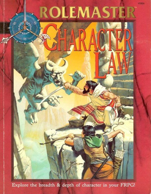 Rolemaster Fantasy Roleplaying; Character Law