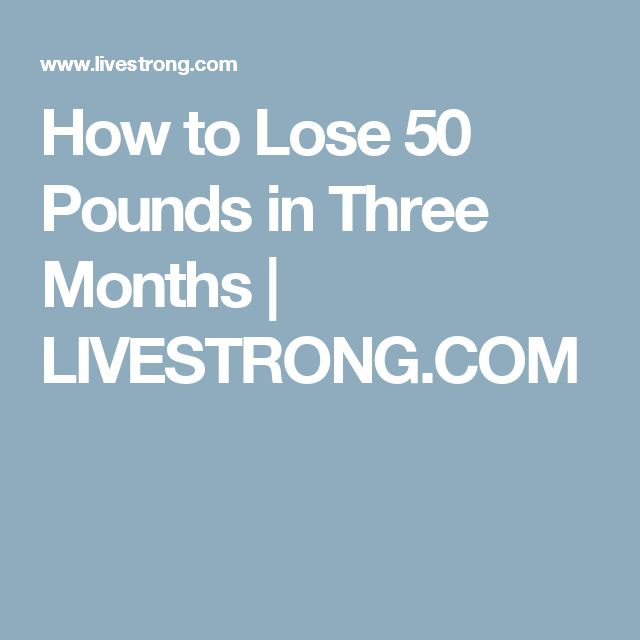 How to Lose 50 Pounds in Three Months | LIVESTRONG.COM