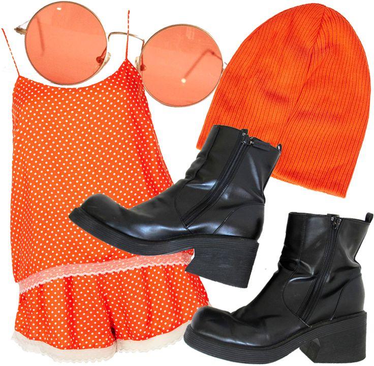 Orange + Black + Grunge + 60's