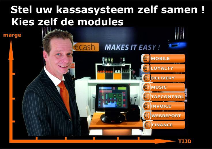 Stel je horeca kassasysteem zelf met modules samen.
