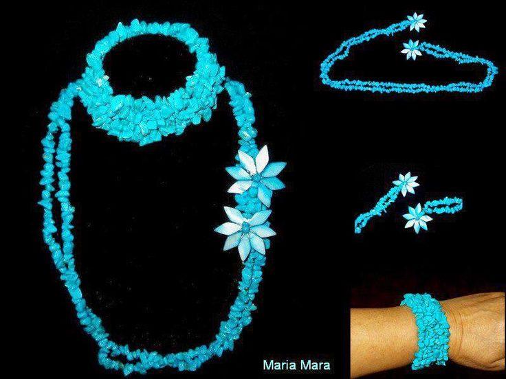 mara flori bijuterii: turcoaz flower