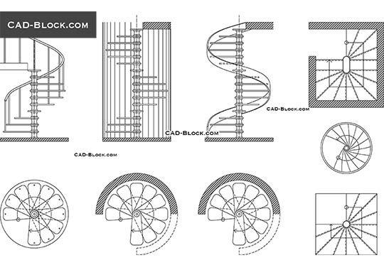 Best Spiral Staircase Free Autocad Blocks Spiral Staircase 400 x 300