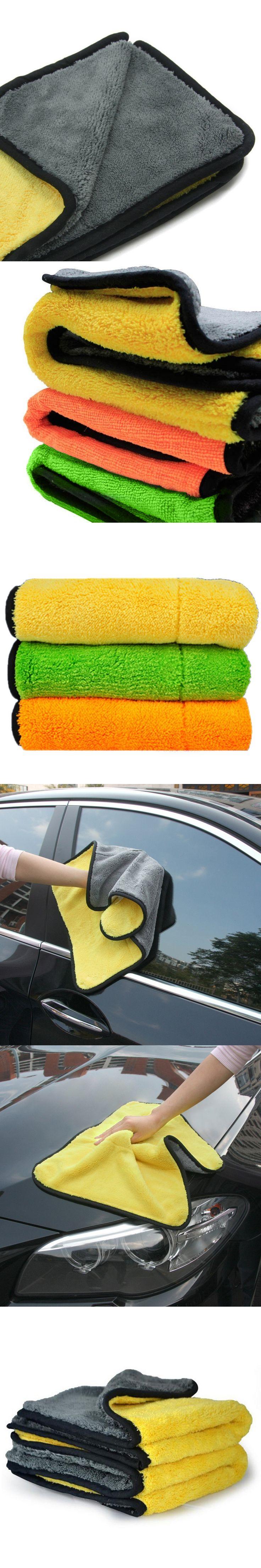 Super Thick Plush Microfiber Cleaning Cloth Car Care Wax Polish Detailing Towel