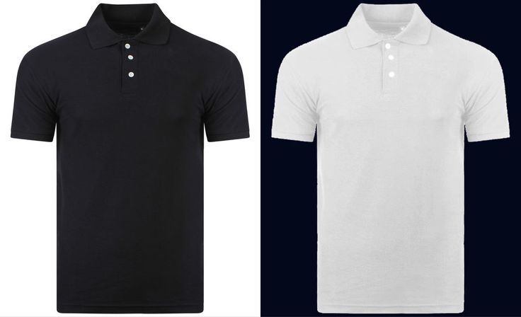 100% Cotton Black White Polo Shirt Plain Short Sleeve Mens Polo T Shirt T-Shirt