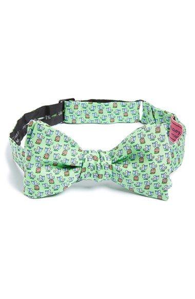 Vineyard Vines Pelican Print Silk Bow Tie