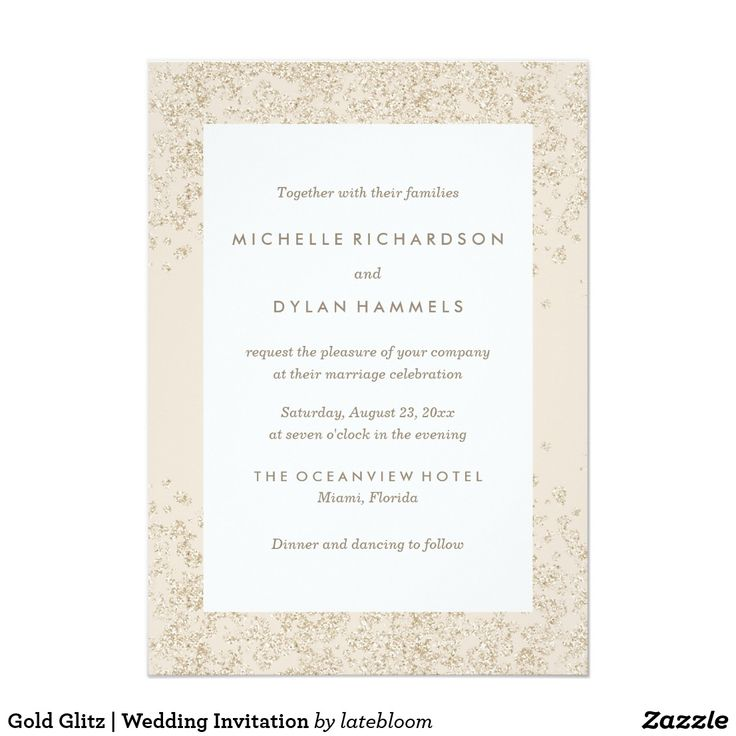 38 best modern weddings images on pinterest bridal invitations gold glitz wedding invitation stopboris Image collections