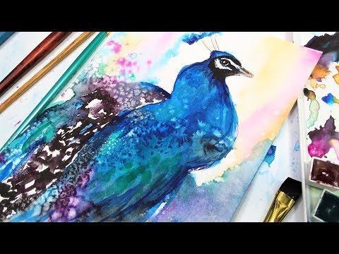 Watercolor Peacock Painting Ideas