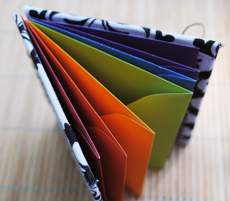 Envelope book; great idea for budgeting!