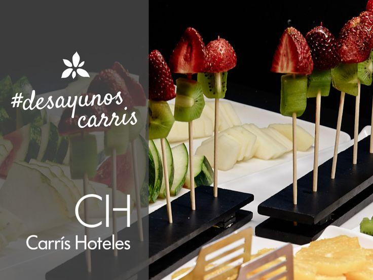 Brochetas de #fruta en los #desayunoscarris