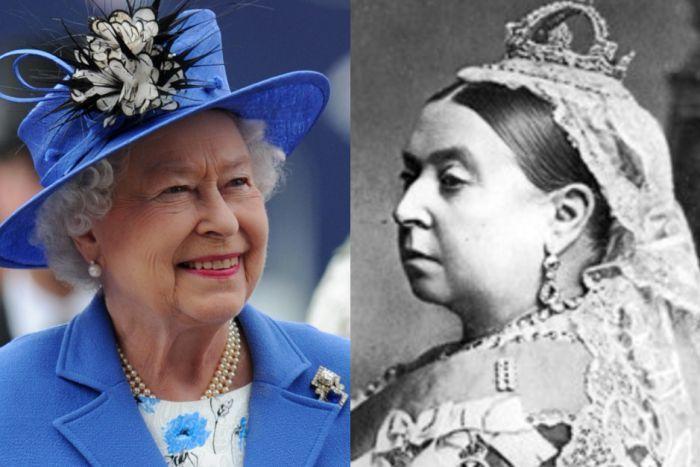 Composite image of Queen Elizabeth II and Queen Victoria
