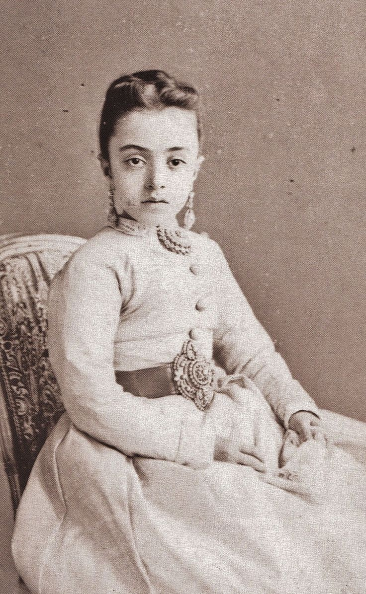 Portrait of Saliha Sultan (1862-1941).  Istanbul, 1873.  She was the fourth daughter of the Ottoman sultan Abdülaziz (reign: 1861-1871).
