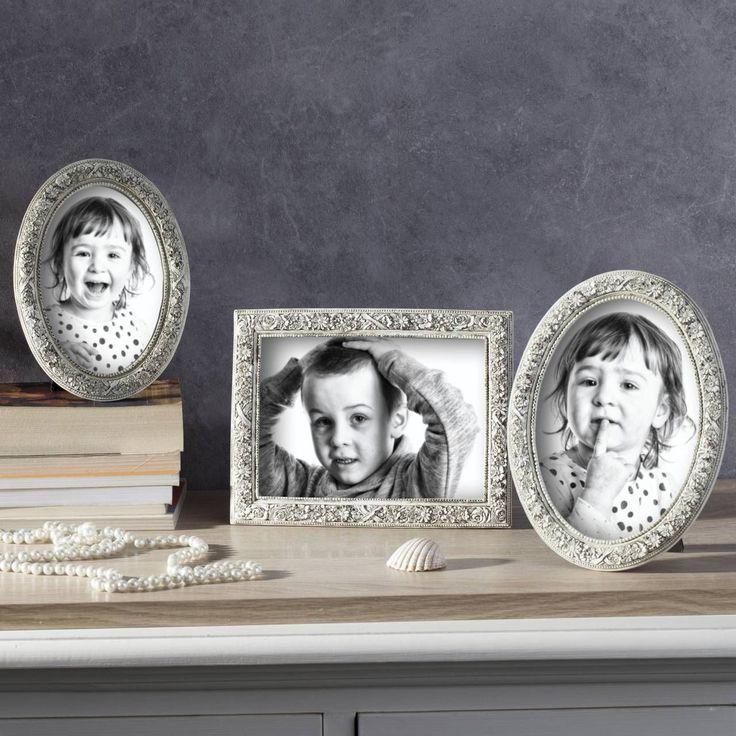 #ramka #photo #picture #frames #family #decoration #home #dekoracje Ramka owalna Alison 13,5x1,5x18,5cm beige, 13,5x1,5x18,5cm - Dekoria