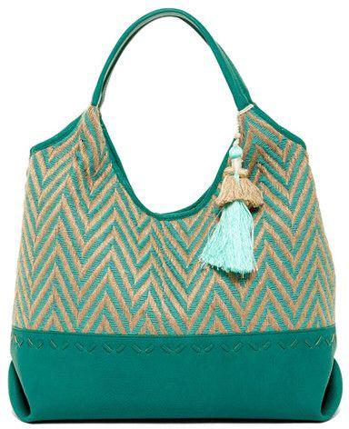 Green chevron purse!! 😍