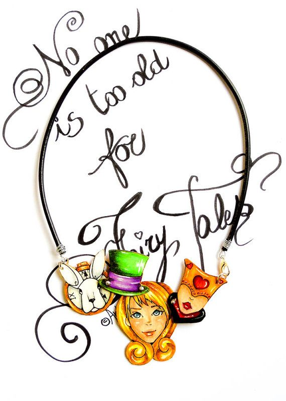 Alice in Wonderland  Necklace  Alice in Wonderland by TheRollyS