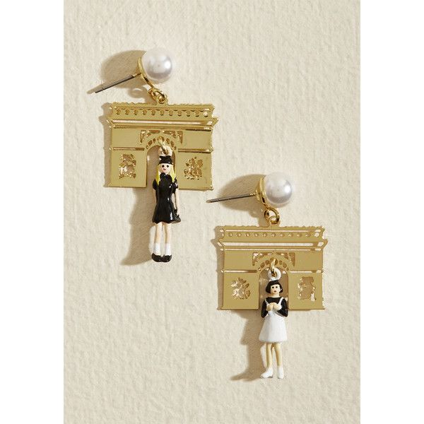 Les Nereides Purposely Parisienne Earrings (4,875 INR) ❤ liked on Polyvore featuring jewelry, earrings, les nereides jewelry, les nereides earrings, les nereides jewellery and earring jewelry