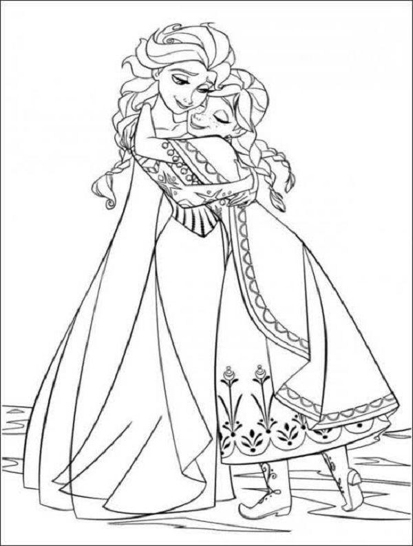 frozen valentine coloring pages | Frozen coloring, Frozen ...