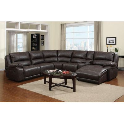 6PC5000LAFSECTTO Chandler Tobacco Upholstered 6-Piece Reclining Sectional