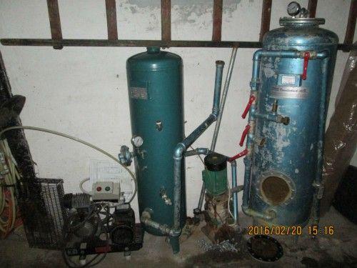 Vandværk med rensningsanlæg og kompressor, ny pris ca 35000,00kr