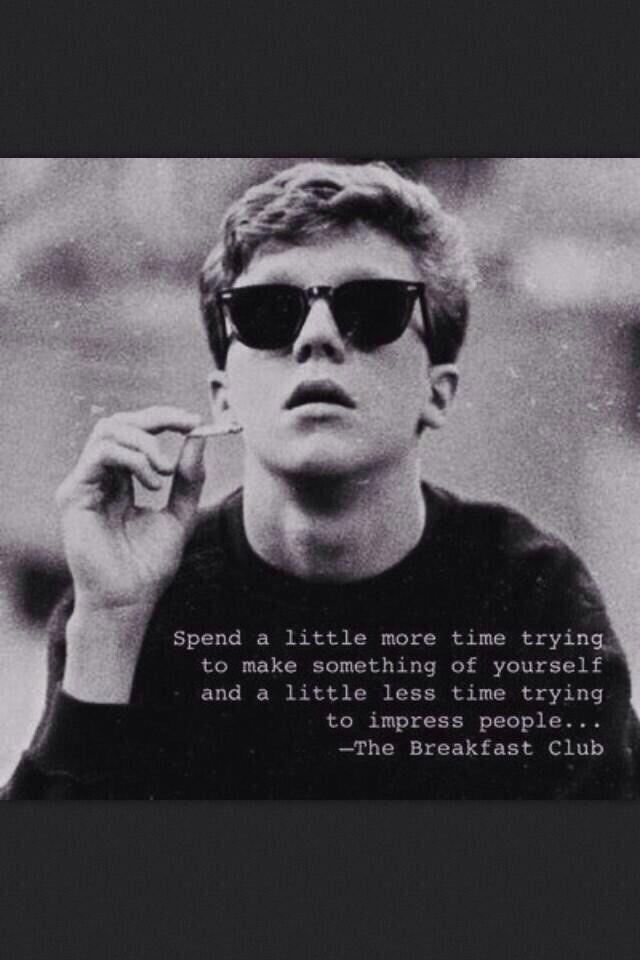 The Breakfast Club <3 such a good movie